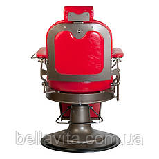 Перукарське чоловіче крісло STAR (червоне), фото 3