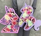 Пено-бокс для цветов - Единорожка 25,5*25*10 (крашеный белый), фото 2