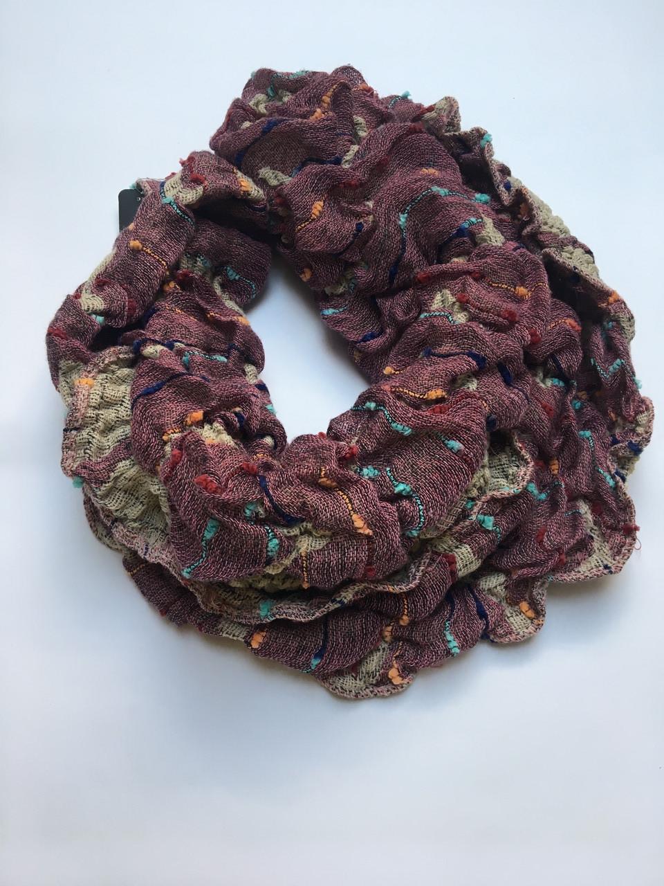 Шарф-хомут вязаный цветной зима-осень  Lafeny