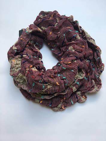 Шарф-хомут вязаный цветной зима-осень  Lafeny, фото 2