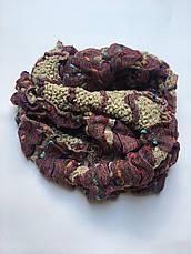 Шарф-хомут вязаный цветной зима-осень  Lafeny, фото 3