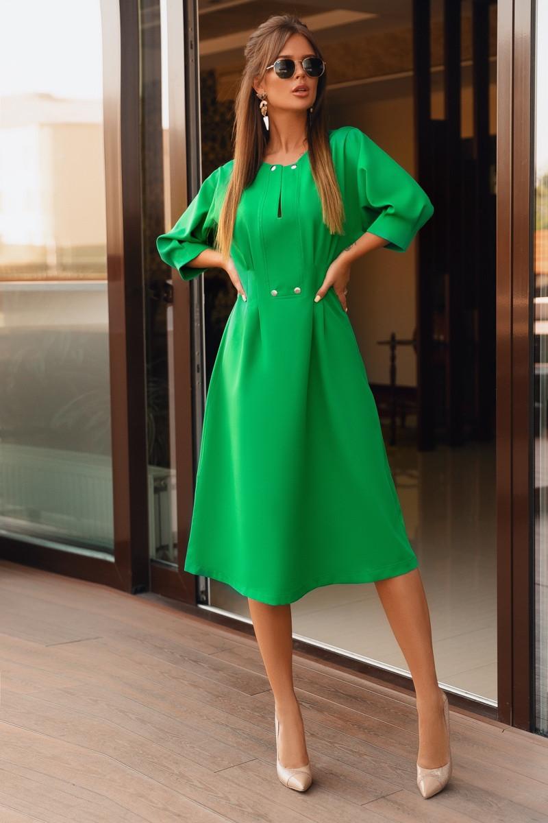 Женское платье с рукавом три четверти.Размеры:42-46.+Цвета