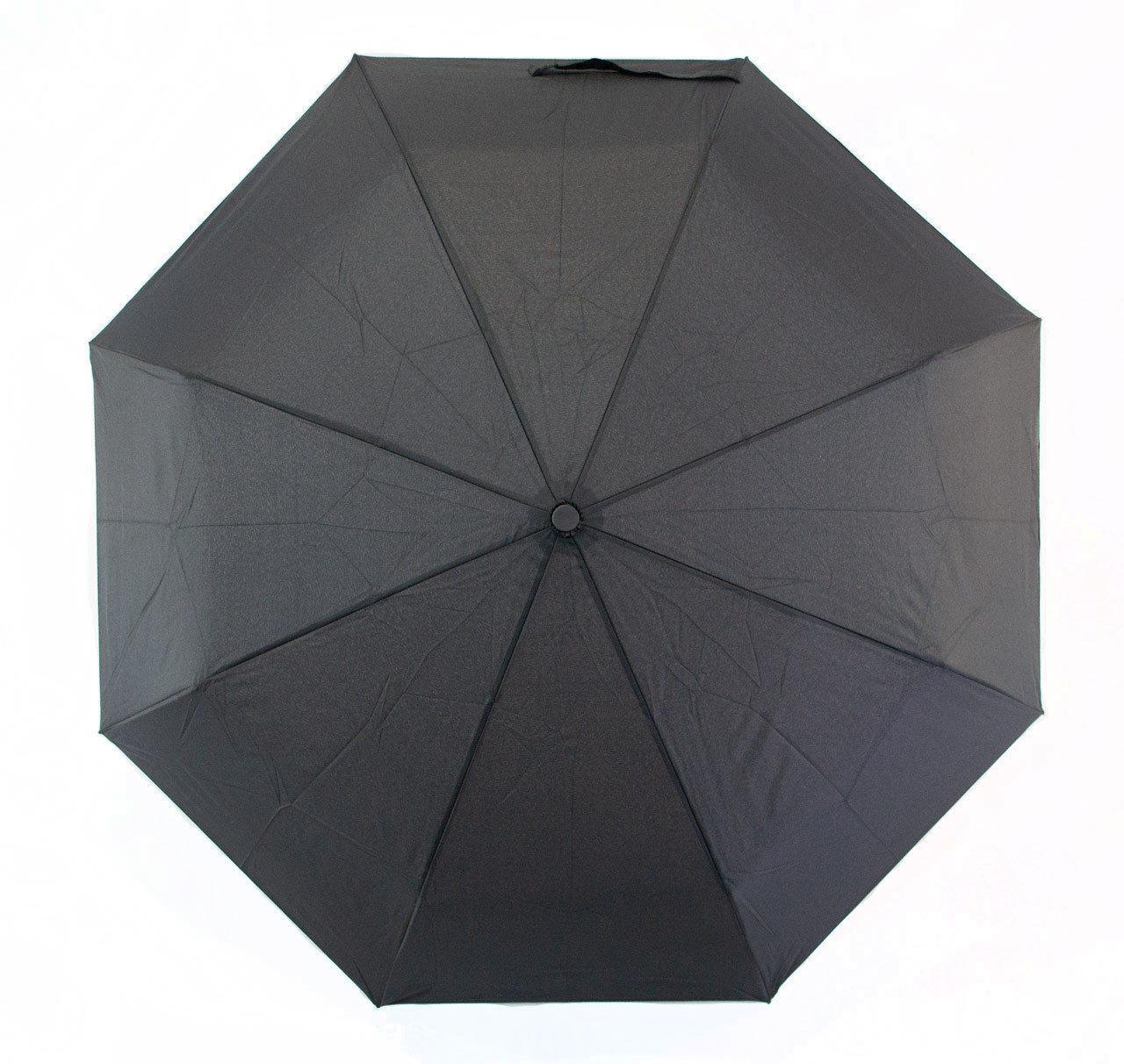 Зонт мужской полуавтомат с куполом 100 см Susino черный, 8 спиц (3533)