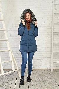 Женская зимняя куртка с мехом 27218 (Синий) от Black&Red