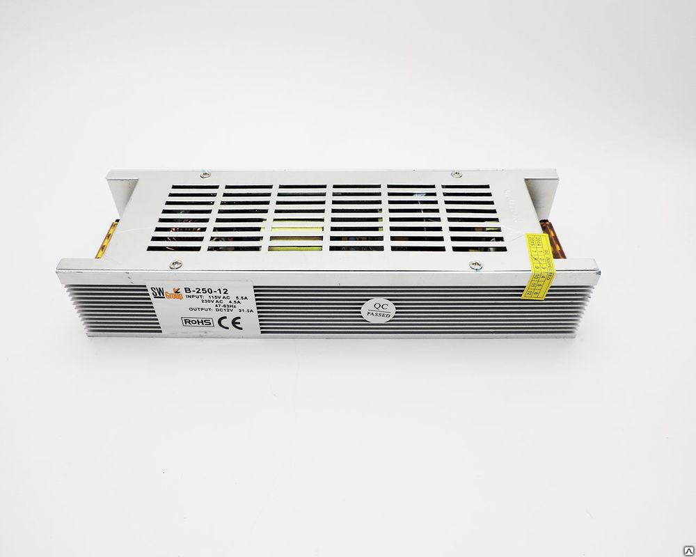 Dilux - Блок питания негерметичный 250Вт, 12В, 20.83А, узкий