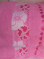 Полотенце махровое 50х90 (розовое)