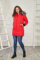 Женская зимняя куртка с мехом 27218 (Красный) от Black&Red M