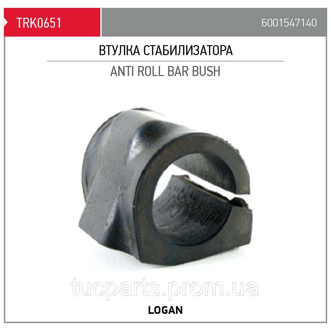 Втулка стабілізатора переднього Logan 6001547140
