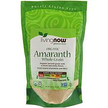 """Органический амарант NOW Foods, Living Now  """"Organic Amaranth"""" цельное зерно (454 г)"""