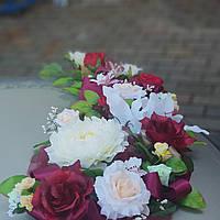 Украшение свадьбы в марсаловом цвете