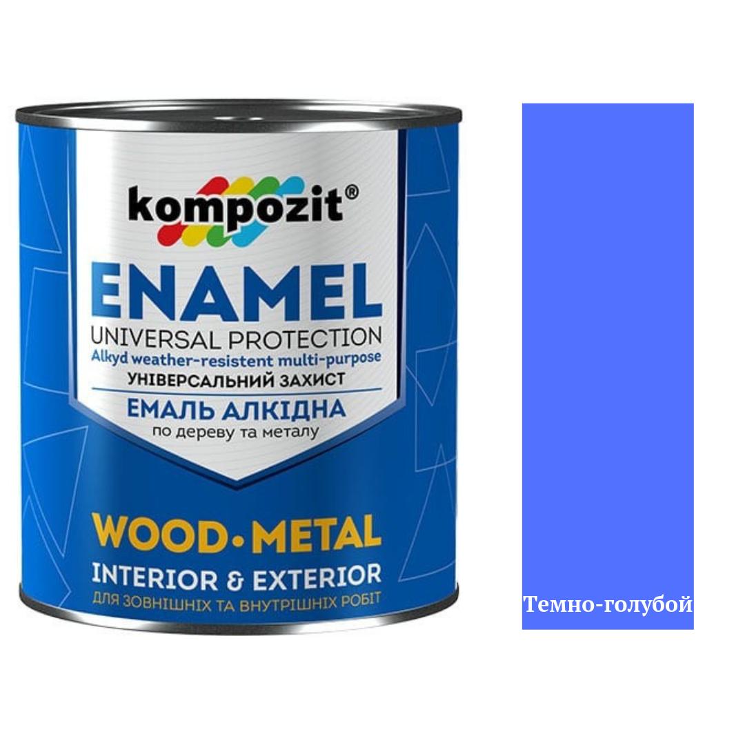 Алкидная эмаль для дерева и металла ПФ-115 Kompozit 2,8кг (Темно-голубой) (Композит)