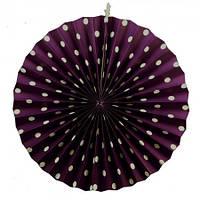 Веерный круг (картон) 40см (фиолетовый 0021)
