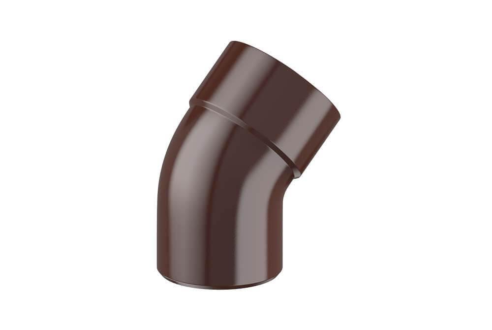 Колено Fitt 45° для трубы 80 мм, цвет коричневый