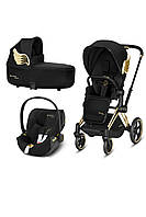 Коляска 3в1 Cybex Priam Wings black 2019