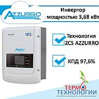 Солнечный инвертор сетевой AZZURRO 3,68 кВт, 1Ф, 2МРРТ, фото 1