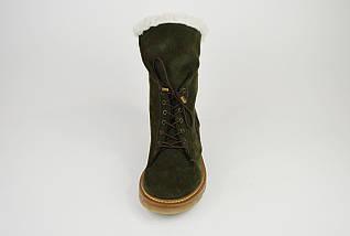 Ботинки зимние хаки с косой молнией DD 267, фото 3