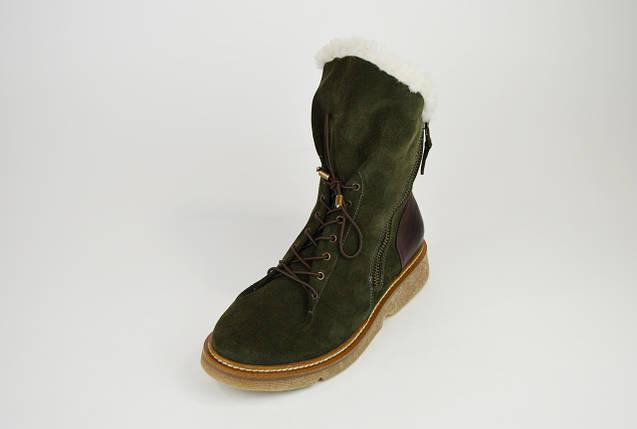 Ботинки зимние хаки с косой молнией DD 267, фото 2