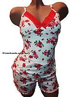 Женская пижама шорты и майка бамбуковая, фото 1