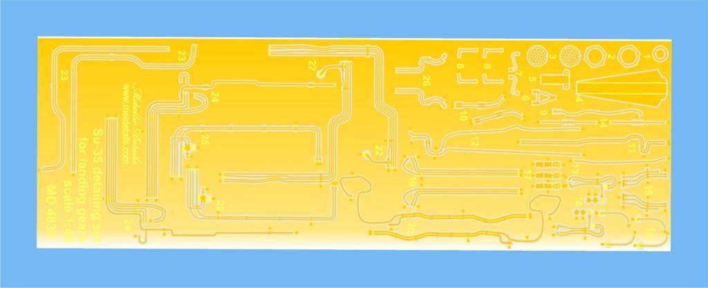 Набор фототравления для деталировки самолета Су-35. 1/48 METALLIC DETAILS MD4834
