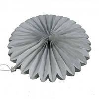 Веерный круг (тишью) 20см (серый 0025)