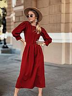 Платье миди, ткань: креп-костюмка. Размер: С(42-44)М(44-46). Разные цвета (1159)