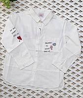 Рубашка стиля оверсайс для девочки(134-164 см)