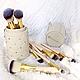 Кисти для макияжа в тубусе BH Cosmetics Studded Couture Brush Set, 12 шт, фото 3