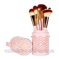 Примятая Коробочка! Кисти для макияжа в тубусе BH Cosmetics Pink Perfection, 10 шт