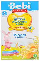 Каша молочная BEBI PREMIUM (Беби Премиум) рисовая с курагой, 250 г 1104041