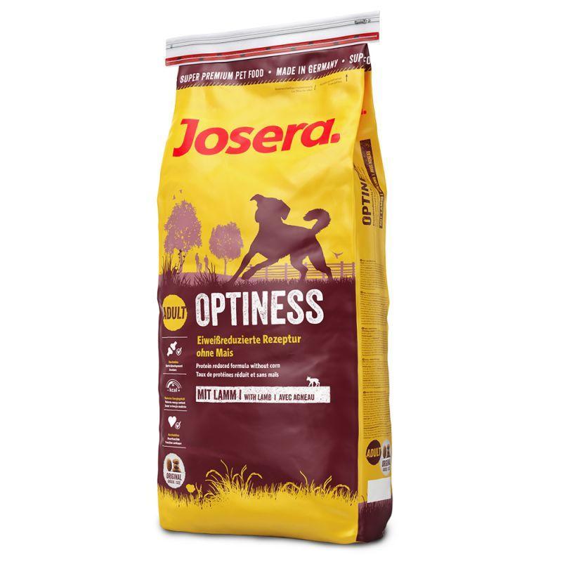 Сухой корм для собак Josera Optiness с пониженным содержание белка с ягненком и картофелем 15 кг
