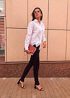 Стильная белая женская рубашка, фото 1