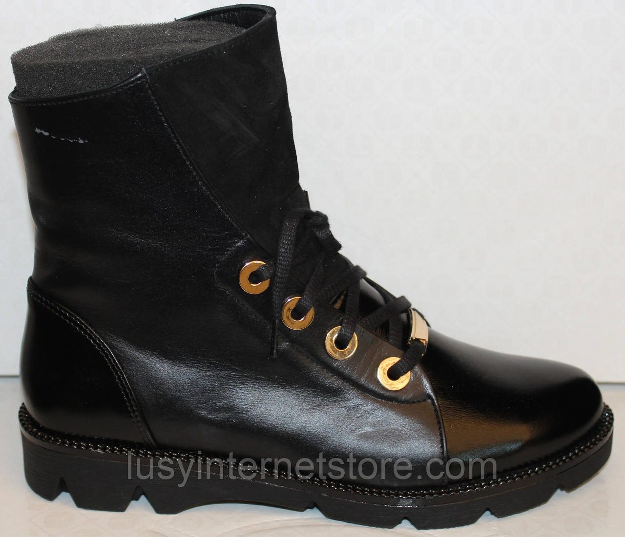 Ботинки черные женские зимние от производителя модель БМ318Т-1
