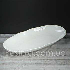 Блюдо - 36 см, Белое (Славянская Керамика)
