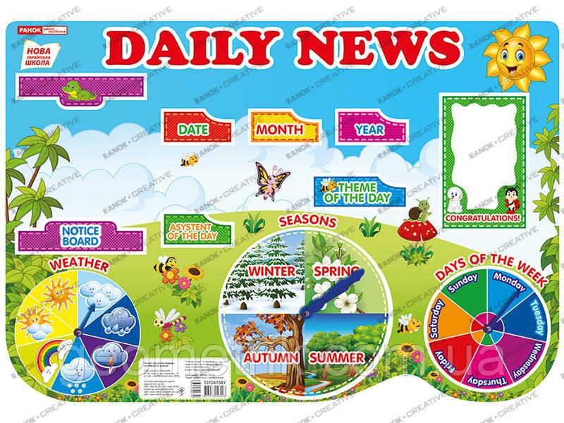 НУШ Плакат. Щоденні новини (англ.) 0106-1 арт. 13104154У ISBN 4823076143428