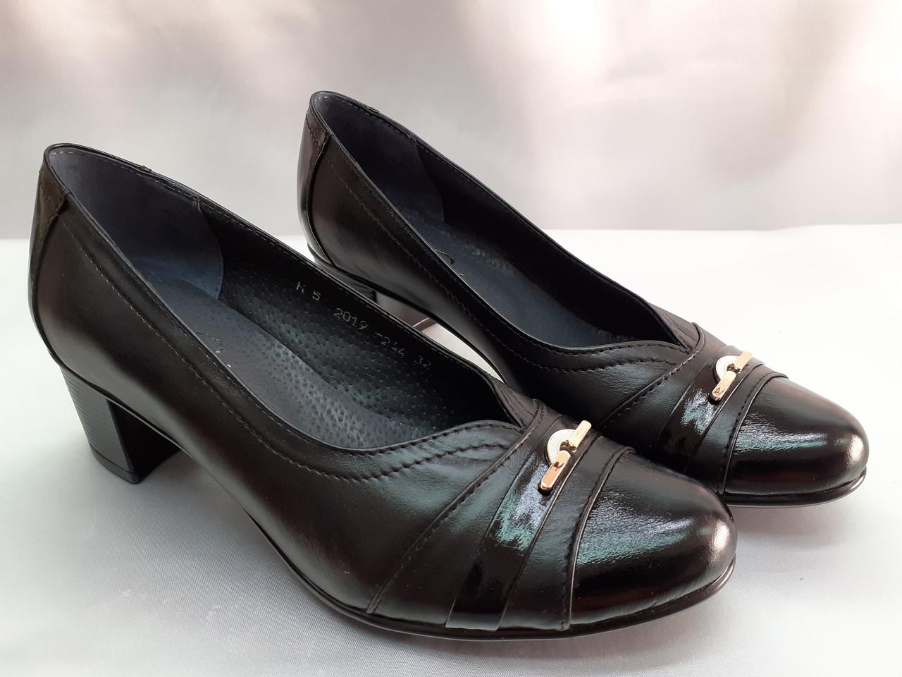 Классические кожаные комфортные туфли Romax