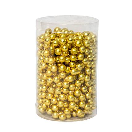 Пластиковые бусы, 10мм*8м, золото (890063)