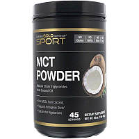 """Порошок МСТ California GOLD Nutrition,Sport """"MCT Powder"""" триглицериды средней цепи из кокосового масла (454 г)"""