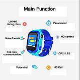 Детские Смарт часы с GPS A32W Синий (Smart Watch) Умные часы, фото 7