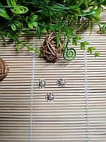 Обниматели для бусин, серебро, 11 мм