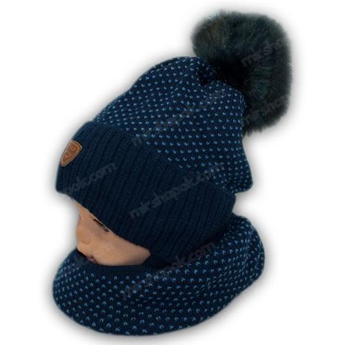 Дитячий комплект - шапка і шарф для хлопчика