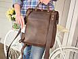 """Рюкзак мужской городской кожаный на раме """"Mone"""", фото 3"""