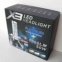 Комплект (2шт) светодиодных автомобильных лампы LED H4