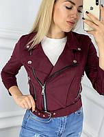 """Куртка-косуха женская замшевая, размеры 42-46 (3цв) """"MODA MUR"""" купить недорого от прямого поставщика"""