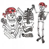 Декор настенный (85см) Скелет - пират
