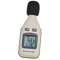 Цифровой шумомер, с диапазоном 30-130 дБ, быстрое измерение звукоизоляции, работает от батарейки типа Крона