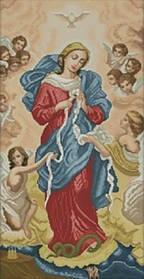 """Набор для вышивки крестиком икона """"Богородица развязывающая узлы"""""""