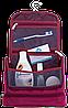 Дорожный органайзер для косметики с крючком ORGANIZE (винный), фото 3