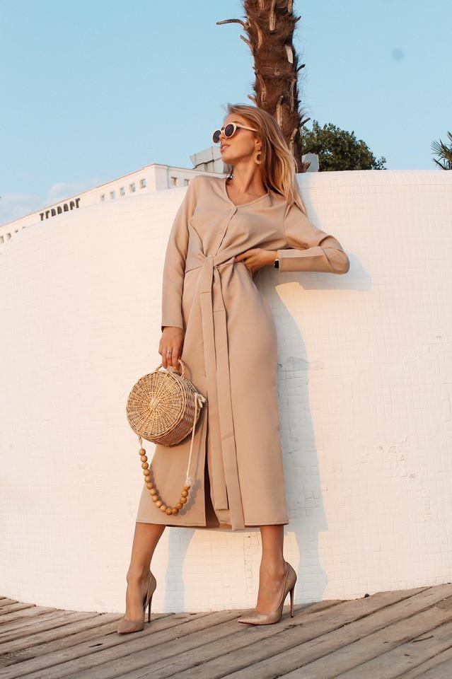 Платье, ткань: креп-костюмка. Размер:  С(42-44)М(44-46). Разные цвета (1166)