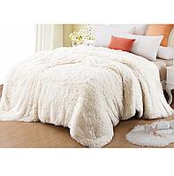 Одеяло покрывало травка с наполнителем холлофайбер меховое с длинным ворсом 210*230, фото 1