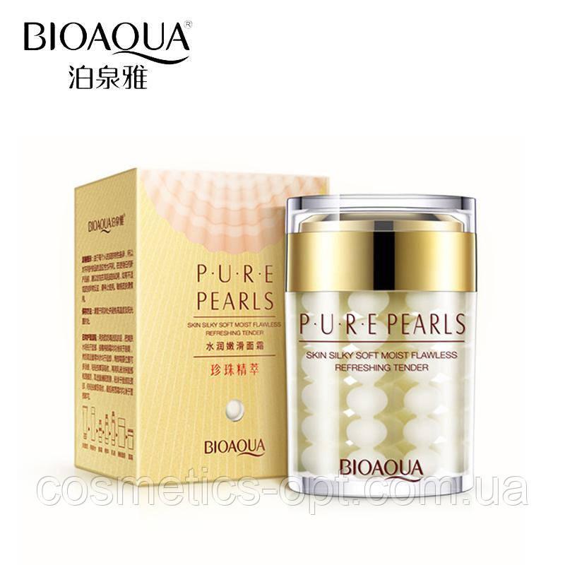 Увлажняющий крем для лица с натуральной жемчужной пудрой Bioaqua Pure Pearls Cream, 120 г